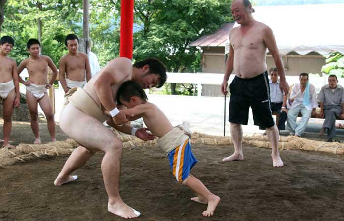 親子三代相撲